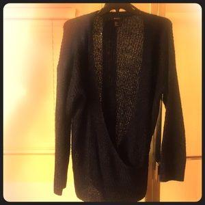 Low cut sweater